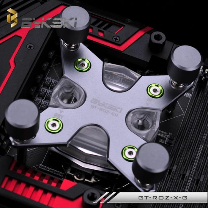 BYKSKI推出GT-ROZ-X CPU水冷頭,X字樣視覺感強烈