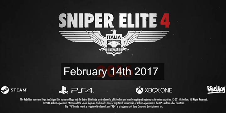 Sniper Elite 4 狙擊之神 4 遊戲情人節登場,預購送好ㄌㄧ