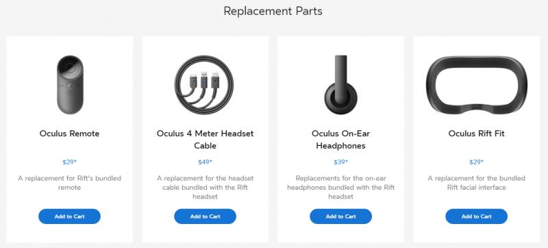 Oculus Rift配件開放單獨購買