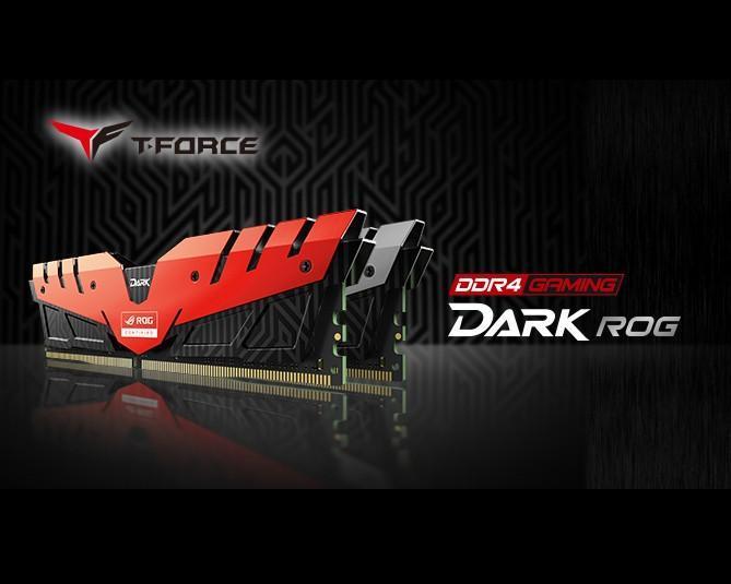 十銓科技正式發表經由華碩ROG認證T-FORCE之DARK記憶體
