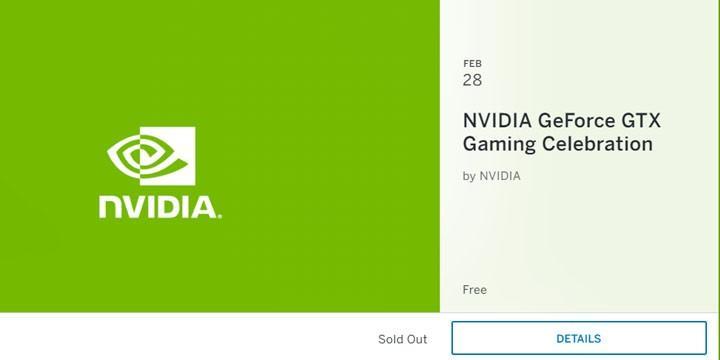 NVIDIA 將於 2/28 舉辦 GeForce GTX Gaming Celebration