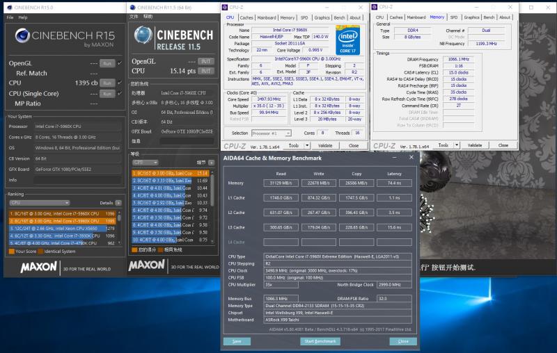 Intel X99 單、雙和四通道效能測試,不同軟體吃重類型不同