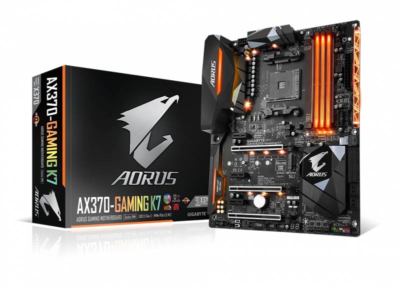 技嘉宣佈支援AMD Ryzen架構處理器 AORUS主機板可充分發揮全新AM4平台的極致效能