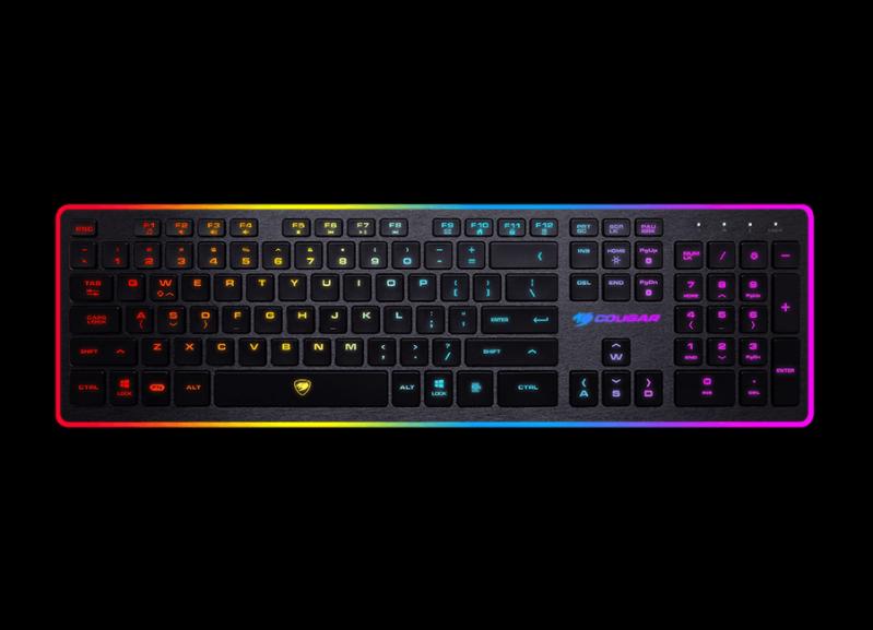 COUGAR VANTAR Gaming鍵盤具備多色背光與八種背光效果