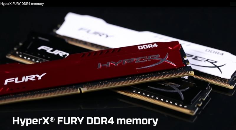 HyperX Fury DDR4記憶體相容AMD Ryzen處理器平台且散熱片顏色更豐富