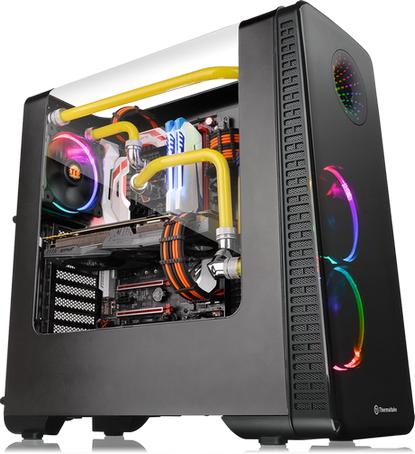曜越全新View 28 RGB系列鷗翼式開窗機殼 Tt LCS Certified水冷認證‧256色RGB Matrix光圈
