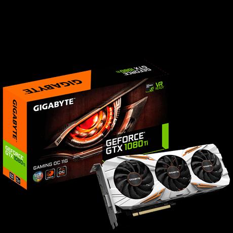 GIGABYTE GTX 1080 Ti Gaming OC 11G顯示卡登場,三風扇白色風罩