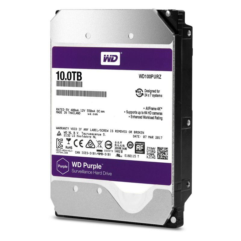 Western Digital推出10TB監控級硬碟 容量增加25% 支援多達64台HD攝影機 適合全天候運作4K等級...