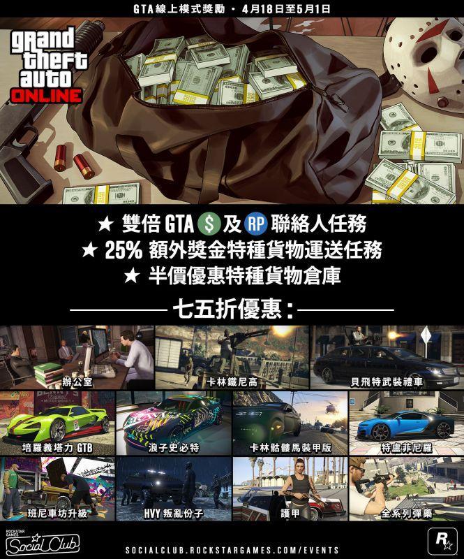 GTA 線上模式加入死亡公爵、雙倍 GTA 遊戲幣及聲望值的聯絡人任務和更多內容