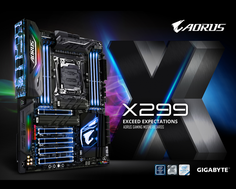 技嘉發表X299 AORUS電競主機板 提供超乎玩家預期的電競感受
