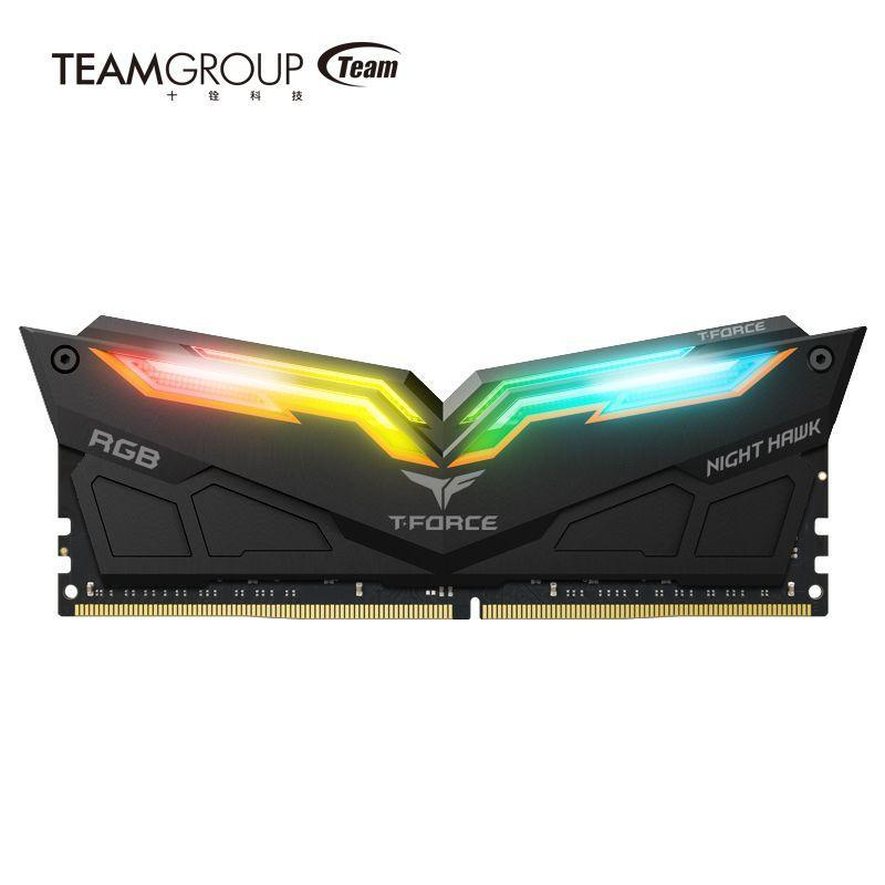 十铨科技開創電競記憶體的炫彩體驗 T-FORCE NIGHT HAWK RGB 耀眼推出