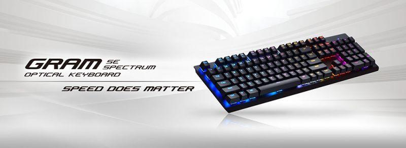 Tesoro鉄修羅®推出最新GRAM剋龍劍機械光軸幻彩版鍵盤