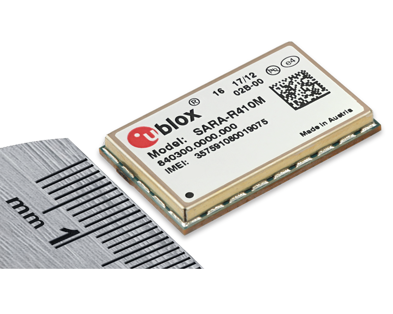 u blox發表可支援全球IoT與M2M應用的最精巧 LTE Cat M1/NB1多模模組