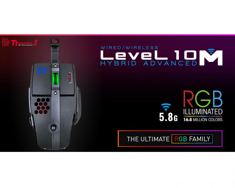 Level 10系列再出新作 - 曜越電競Tt eSPORTS全新成員 Level 10M HYBRID進階版雙操控模式雷射引擎...