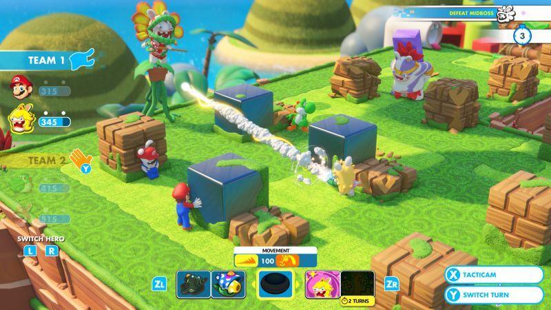 《瑪利歐 + 瘋狂兔子 王國之戰》現已於 Nintendo Switch 遊戲主機平台獨占上市 中文語系同...