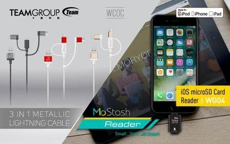 十銓科技領先業界推出iOS系統專用MoStash Reader及三合一接頭充電線WCOC