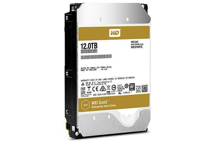 WD Gold企業級硬碟新增12TB容量:採用氦氣填充封裝
