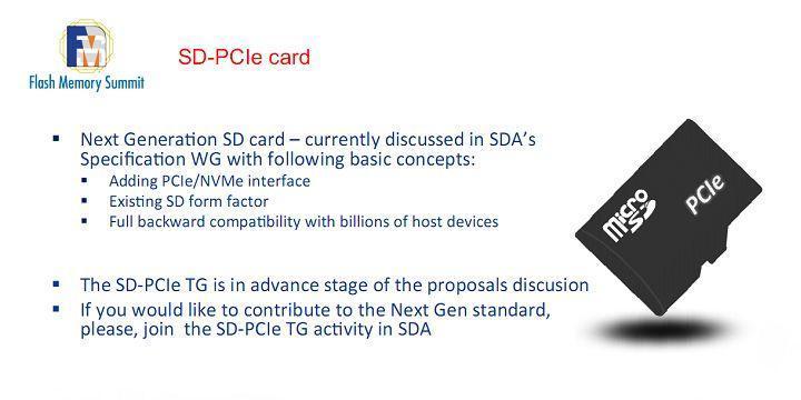 SD卡將支援PCI-E/NVMe:搖身變成SSD