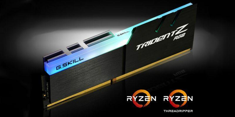 G.SKILL 為 AMD Ryzen 再推出新的 Trident Z RGB 記憶體套件