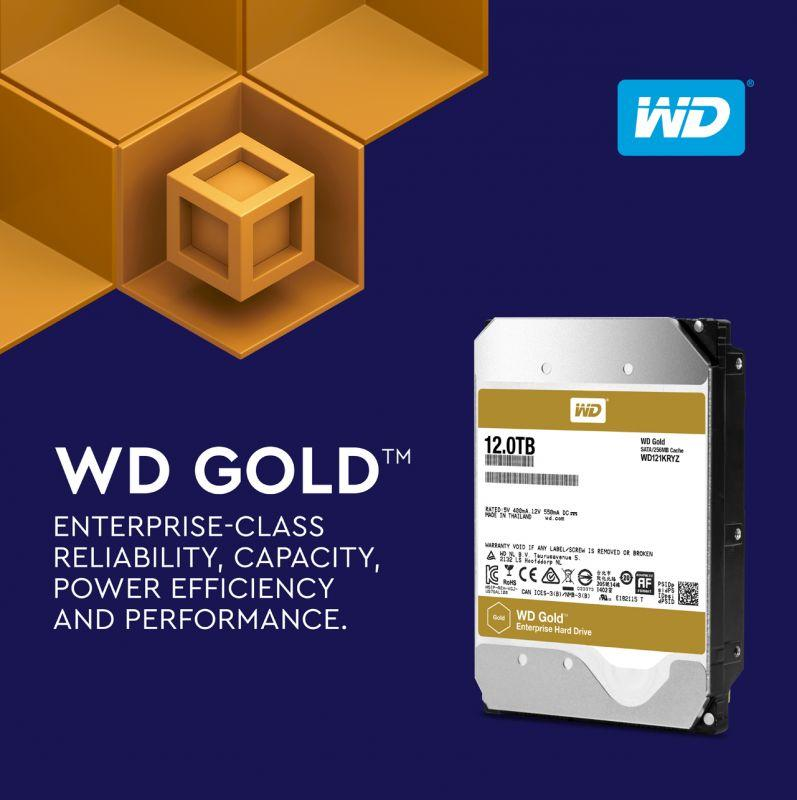 Western Digital推出12TB WD Gold硬碟 滿足日益成長的大數據應用與容量需求