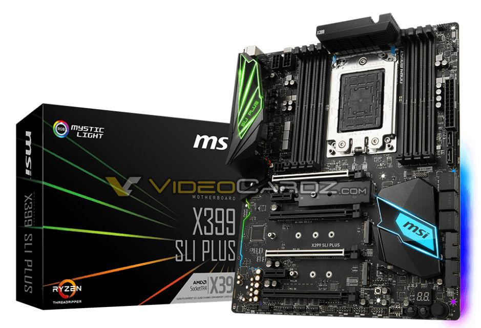 MSI X399 SLI PLUS新主機板曝光,對應 Ryzen Threadripper處理器 - XFastest - MSI-X399-SLIPLUS.jpg