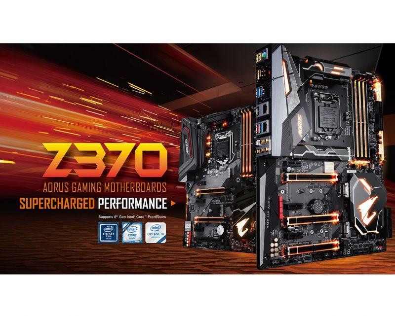 技嘉AORUS Z370電競主機板搶先上市