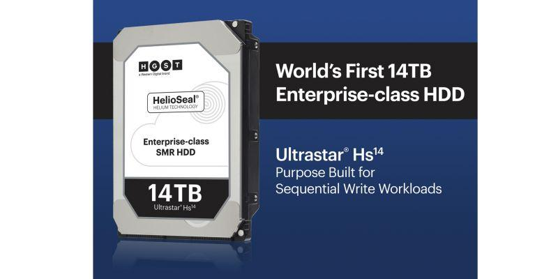 Western Digital推出全球首款14TB企業用硬碟 滿足雲端及超大規模資料中心的大數據容量需求