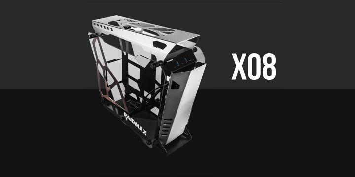 Raidmax 推出 X08 帶有鋼化玻璃的開放式鋁製機殼