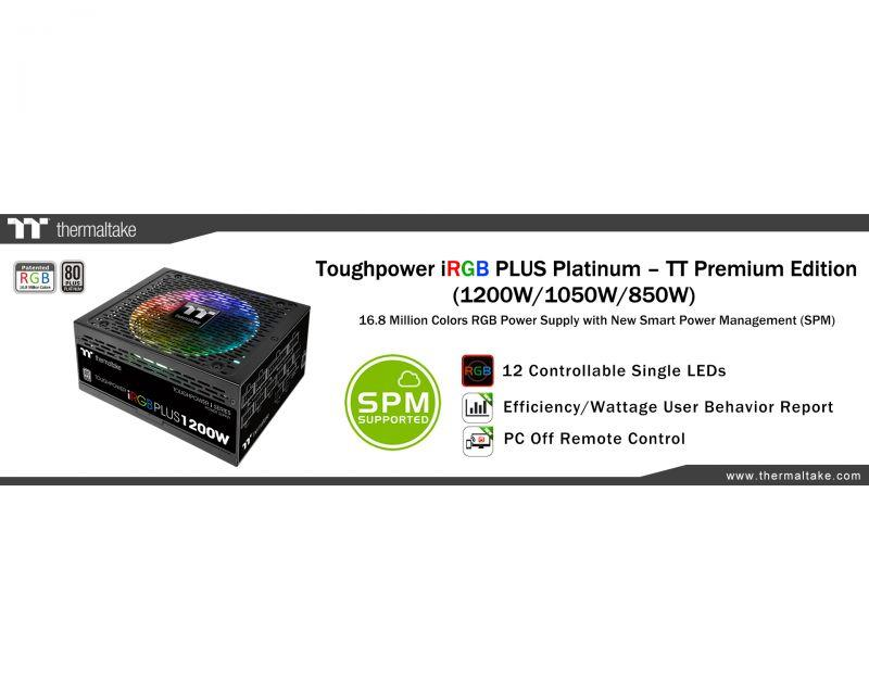曜越推出TT Premium頂級版Toughpower iRGB Plus白金牌系列電源供應器 1680萬色搭配7種燈光模式 ...