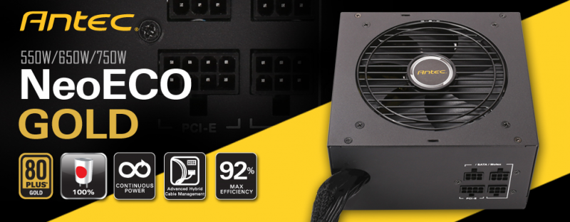 Antec NeoECO Gold新款金牌認證半模組電源供應器