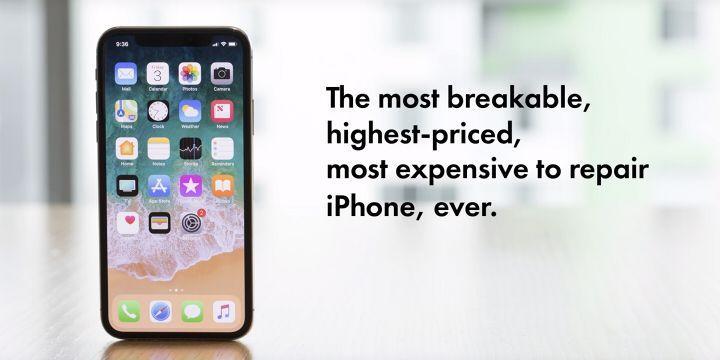 iPhone X 為「有史以來最脆弱的 iPhone」