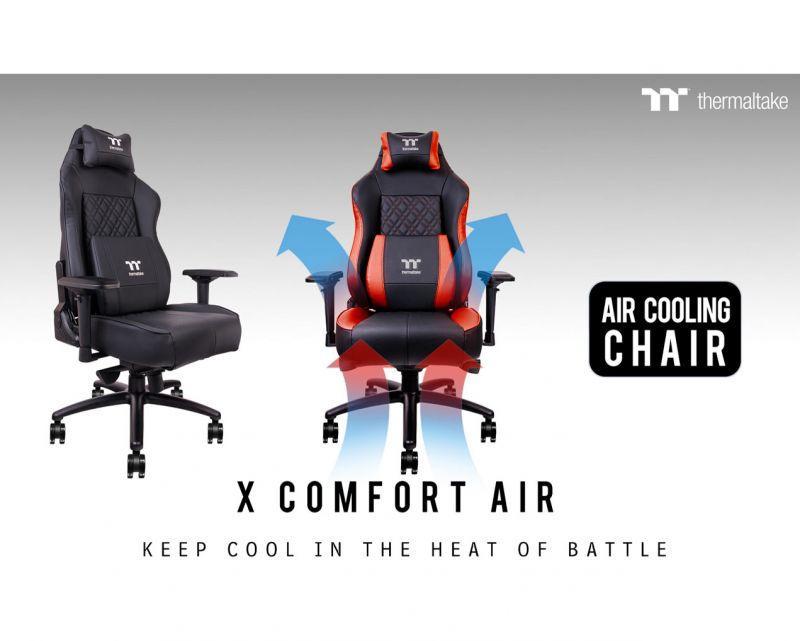 曜越電競Tt eSPORTS全新X COMFORT空氣系列專業電競椅 世界第一款風扇電競椅‧前所未有的酷...