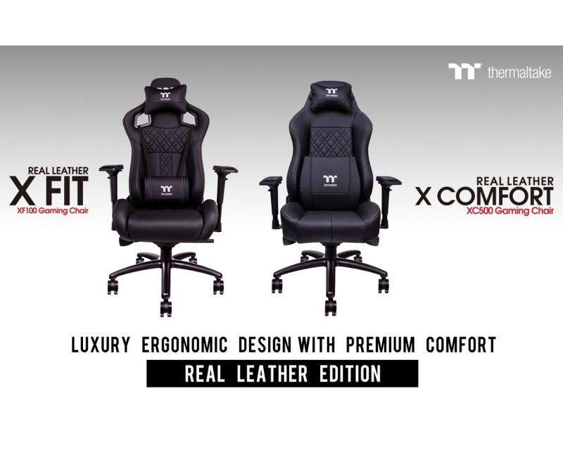 曜越電競Tt eSPORTS X FIT/X COMFORT真皮系列專業電競椅 跑車椅等級皮革打造奢華舒適的人體工...