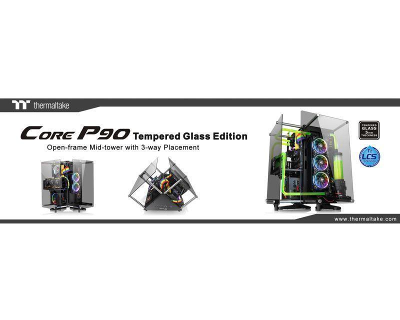 曜越全新Core P90 TG開放式強化玻璃機殼 顛覆傳統電競機殼美學