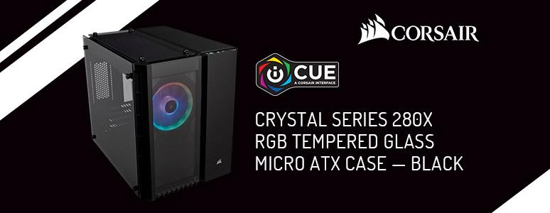 Corsair Crystal Series 280X RGB 機殼 / 方正小巧省空間、三面玻璃側透大玩燈效超吸睛[XF] - XFastest - Corsair-Crystal Series 280X Black RGB_774x300.jpg