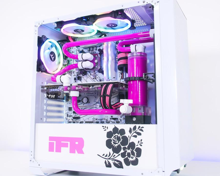 Clean PINK/WHITE Custom Water Cooled PC - XFastest - 500.jpg