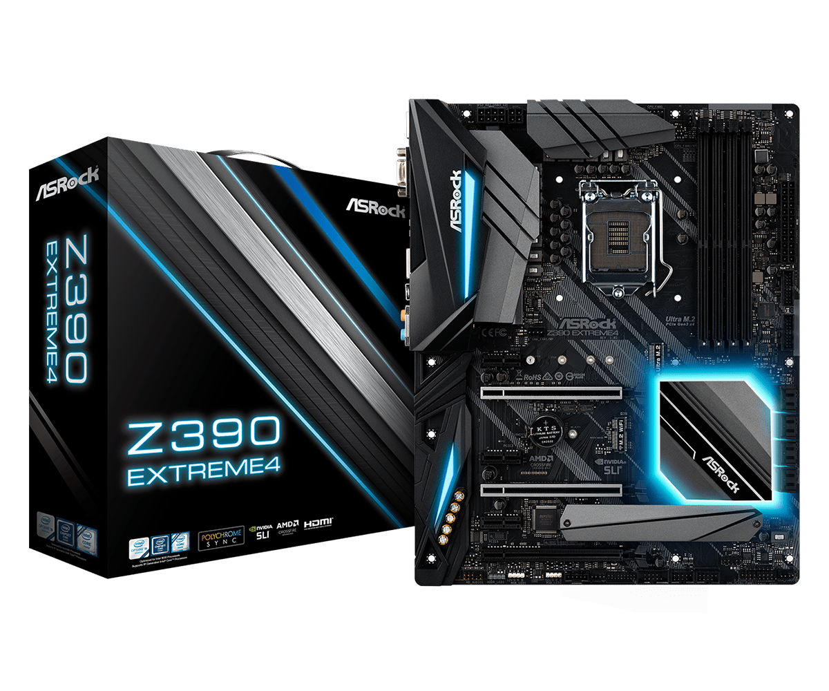 ASRock正式推出針對Intel第9代CPU的Z390主機板 - 以Z390 Taichi Ultimate和Z390 Phantom Gaming 9為旗艦 - XFastest - Z390-Extreme4L1.png