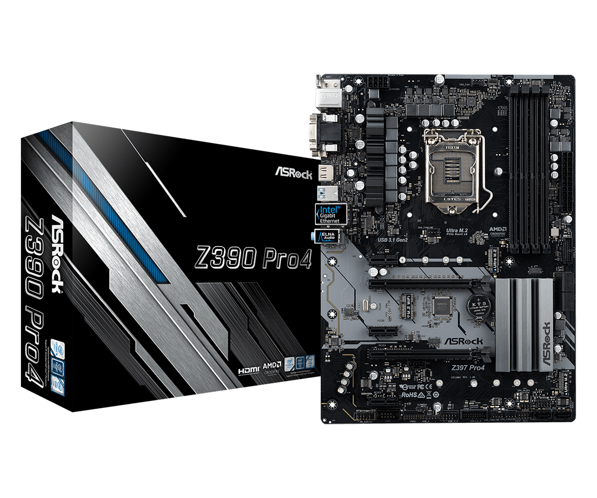 ASRock正式推出針對Intel第9代CPU的Z390主機板 - 以Z390 Taichi Ultimate和Z390 Phantom Gaming 9為旗艦 - XFastest - Z390-Pro4L1.png