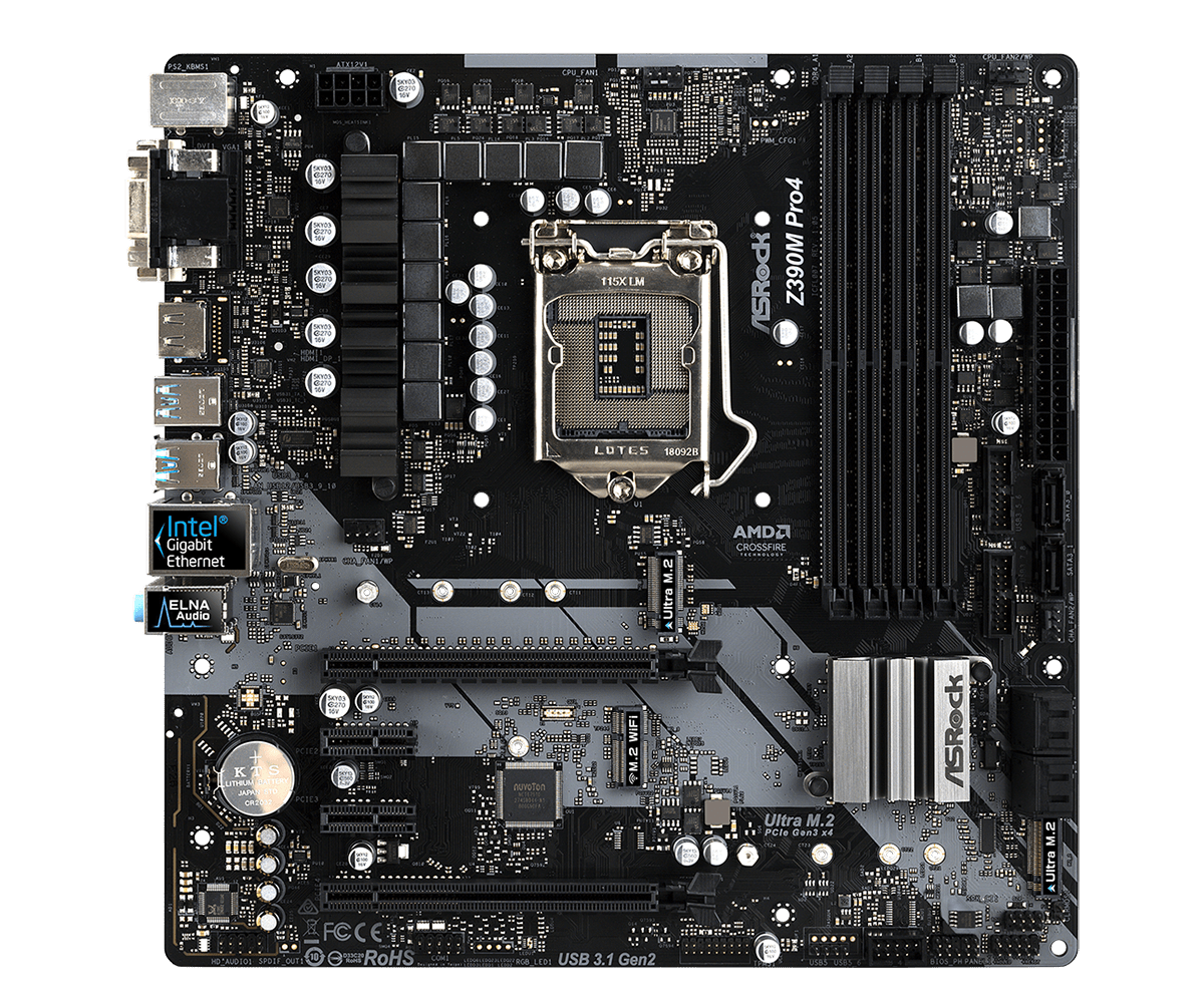 ASRock正式推出針對Intel第9代CPU的Z390主機板 - 以Z390 Taichi Ultimate和Z390 Phantom Gaming 9為旗艦 - XFastest - Z390M-Pro4L2.png