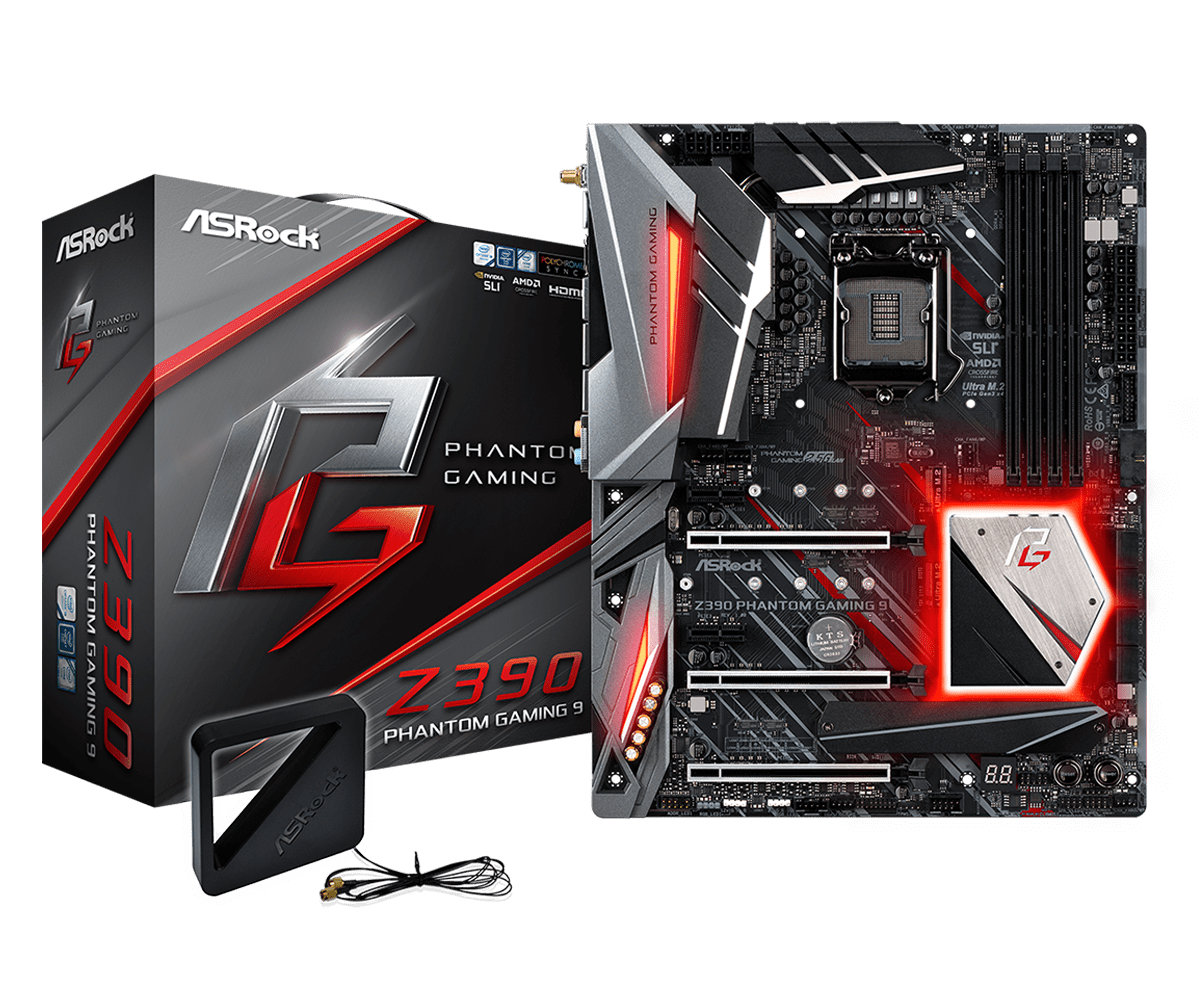 ASRock正式推出針對Intel第9代CPU的Z390主機板 - 以Z390 Taichi Ultimate和Z390 Phantom Gaming 9為旗艦 - XFastest - Z390-Phantom-Gaming-9L1.png