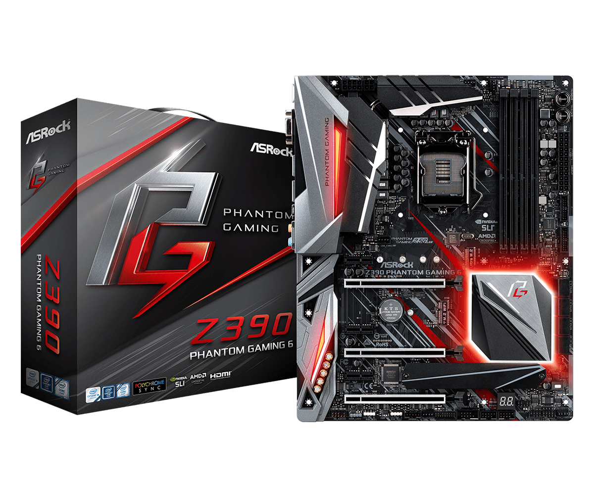 ASRock正式推出針對Intel第9代CPU的Z390主機板 - 以Z390 Taichi Ultimate和Z390 Phantom Gaming 9為旗艦 - XFastest - Z390-Phantom-Gaming-6L1.png