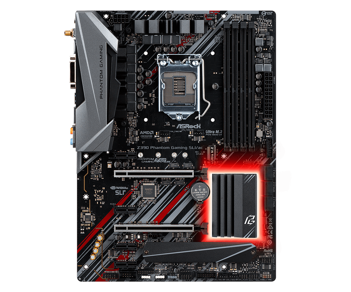 ASRock正式推出針對Intel第9代CPU的Z390主機板 - 以Z390 Taichi Ultimate和Z390 Phantom Gaming 9為旗艦 - XFastest - Z390-Phantom-Gaming-SLIacL2.png