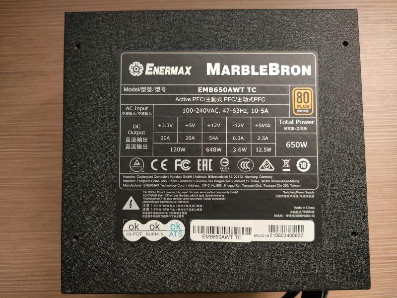 銅競魔MARBLEBRON 650W 銅牌認證 解決您電源線卡側板的問題 - 16
